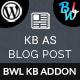KB Display As Blog Post - Knowledge Base Addon - CodeCanyon Item for Sale