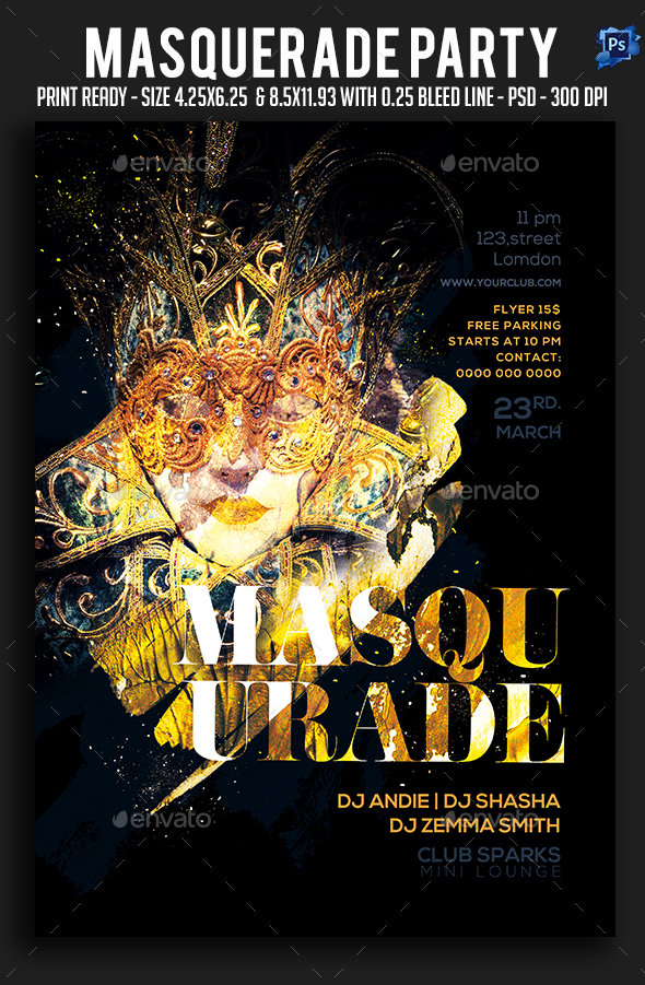 Masquerade Carnival Party Flyer - Clubs & Parties Events