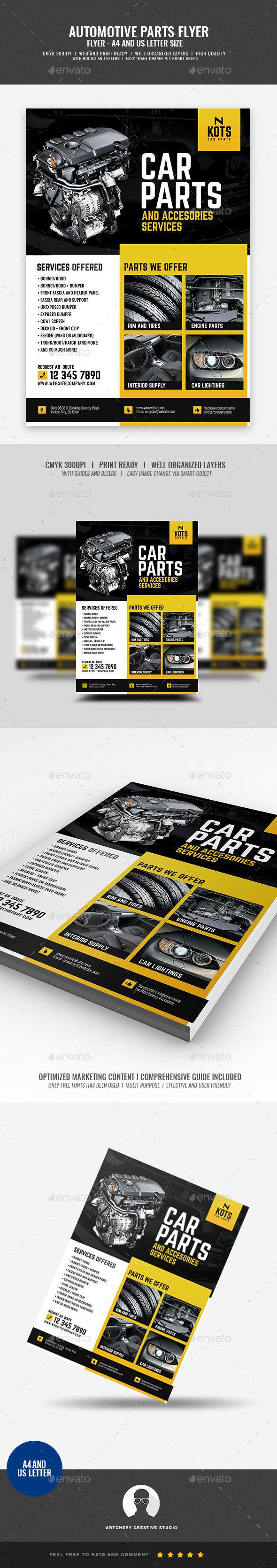Automotive Car Parts Flyer - Corporate Flyers
