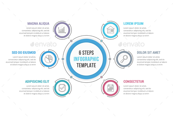 GraphicRiver 6 Steps Circle Infographics 21205665