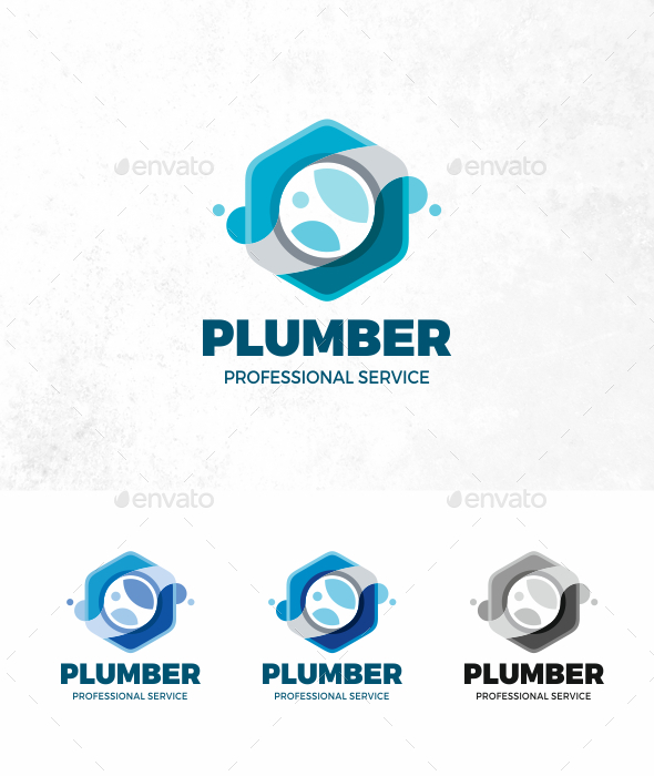 GraphicRiver Plumber Logo 21205688