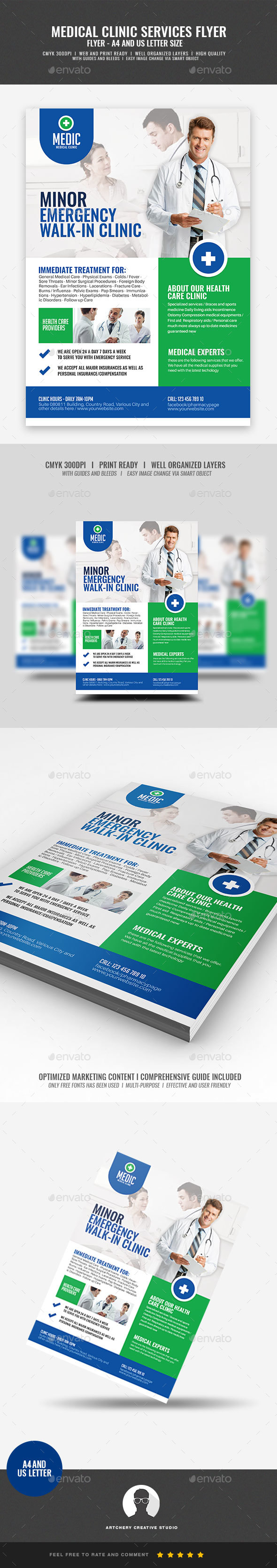 GraphicRiver Medical Clinic Flyer 21197120