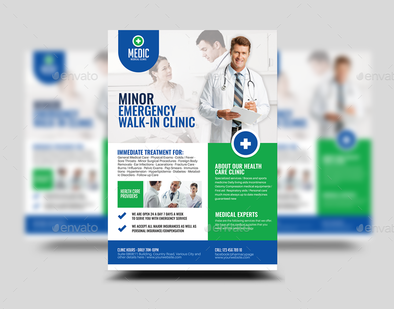 medical clinic flyer corporate flyers previewmedical_clinic_flyer_templatepng