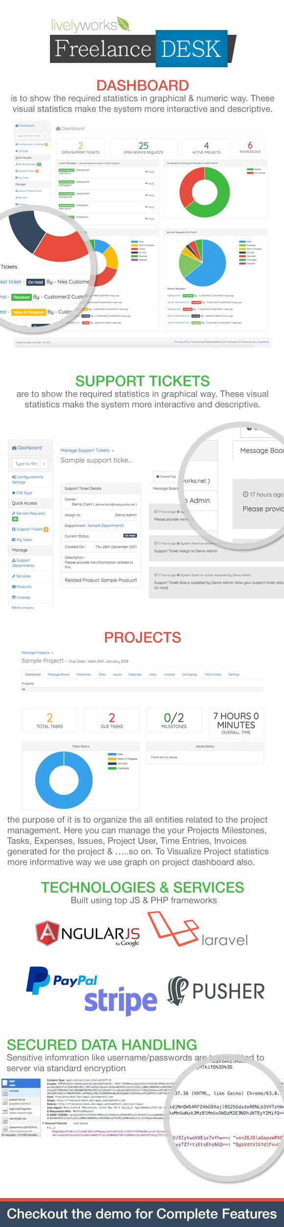 FreelanceDesk Features
