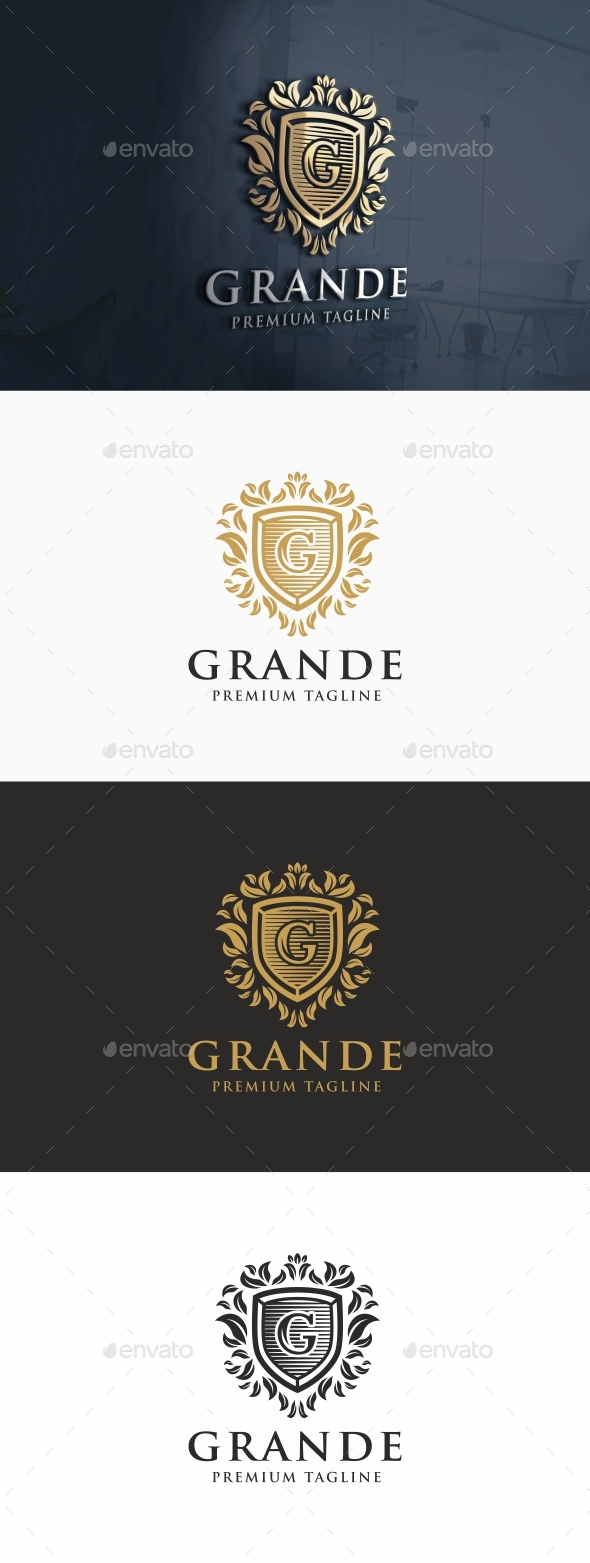 Grande Logo Template - Letters Logo Templates