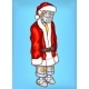 Vector Pop Art Robot in Christmas Costume