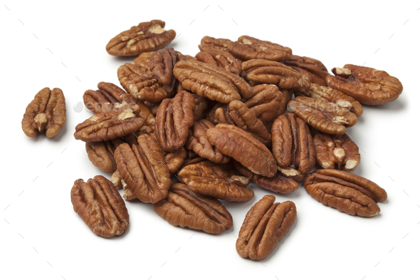 Heap of shelled pecan nuts - Stock Photo - Images