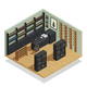 Wine Shop Isometric Composition