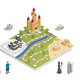 Fairy Tale Gameboard Isometric Composition
