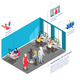 Clothes Factory Designers Isometric Composition - GraphicRiver Item for Sale