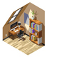 Home Workplace Isometric Composition