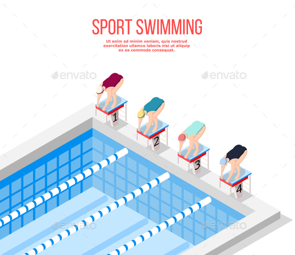 GraphicRiver Olympic Pool Swimming Background 21206043