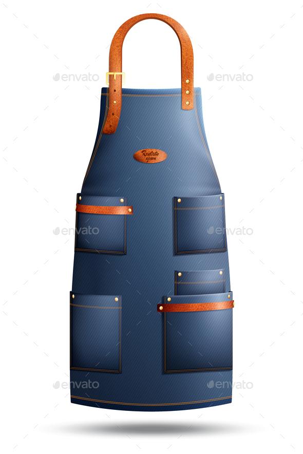 GraphicRiver Realistic Apron Isolated Illustration 21206049