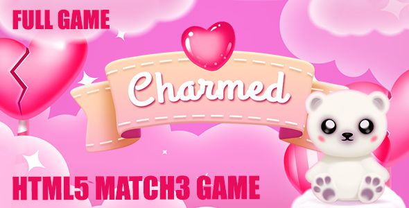 Charmed: Match 3 Valentine Game - CodeCanyon Item for Sale