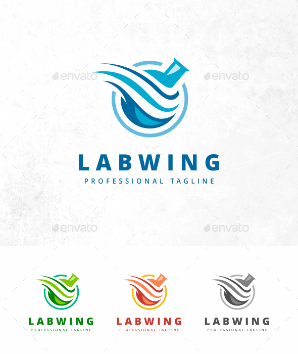 GraphicRiver Lab Wing Logo 21206227
