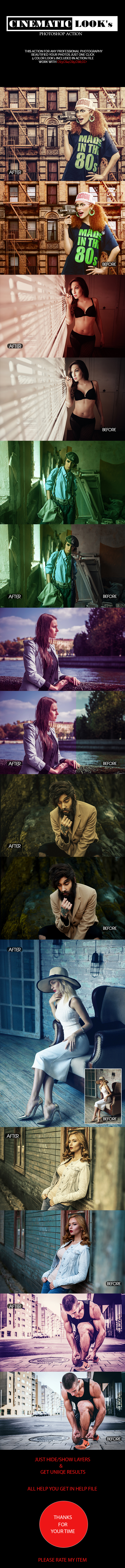 Cinematic Looks Ps Action - Photo Effects Actions
