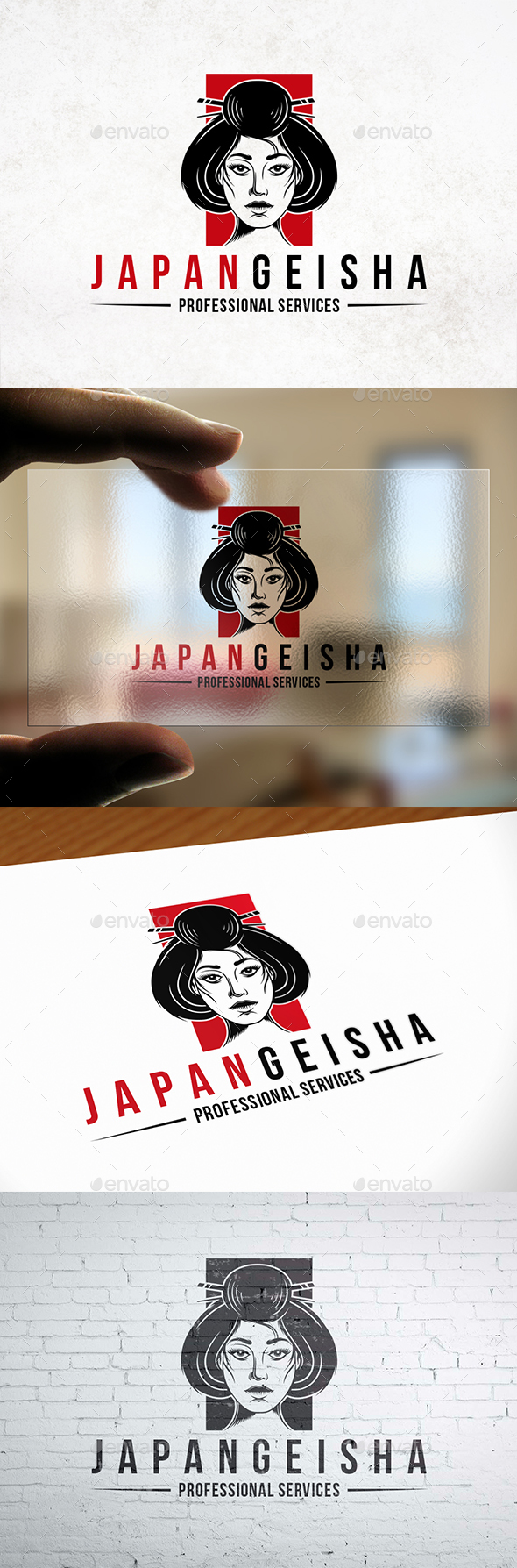GraphicRiver Japanese Geisha Logo Template 21206265