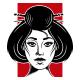 Japanese Geisha Logo Template