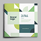 Square Modern Green Architecture Trifold - GraphicRiver Item for Sale