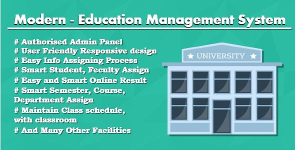 Modern - Education Management System - CodeCanyon Item for Sale