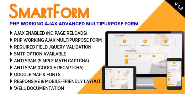 SmartForm - PHP Working Ajax Advanced Multipurpose Form - CodeCanyon Item for Sale