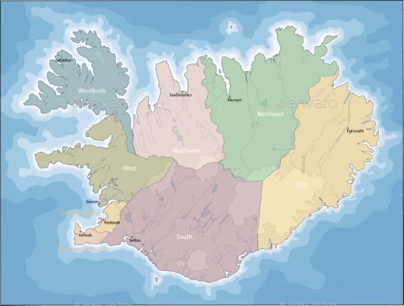 GraphicRiver Map of Iceland 21206720