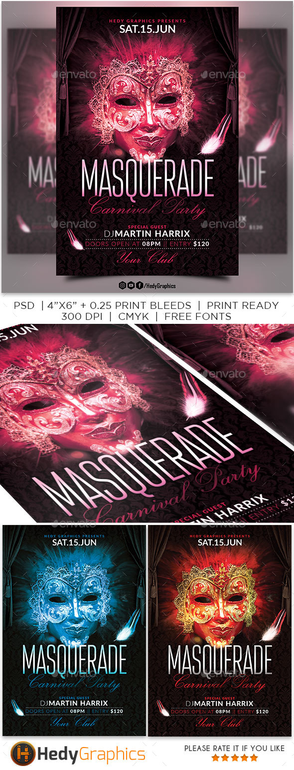 Masquerade Carnival Party - Clubs & Parties Events