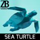 Lowpoly Sea Turtle 001 - 3DOcean Item for Sale