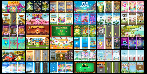 36 HTML5 GAMES IN 1 SUPER BUNDLE!!! (CAPX) - CodeCanyon Item for Sale