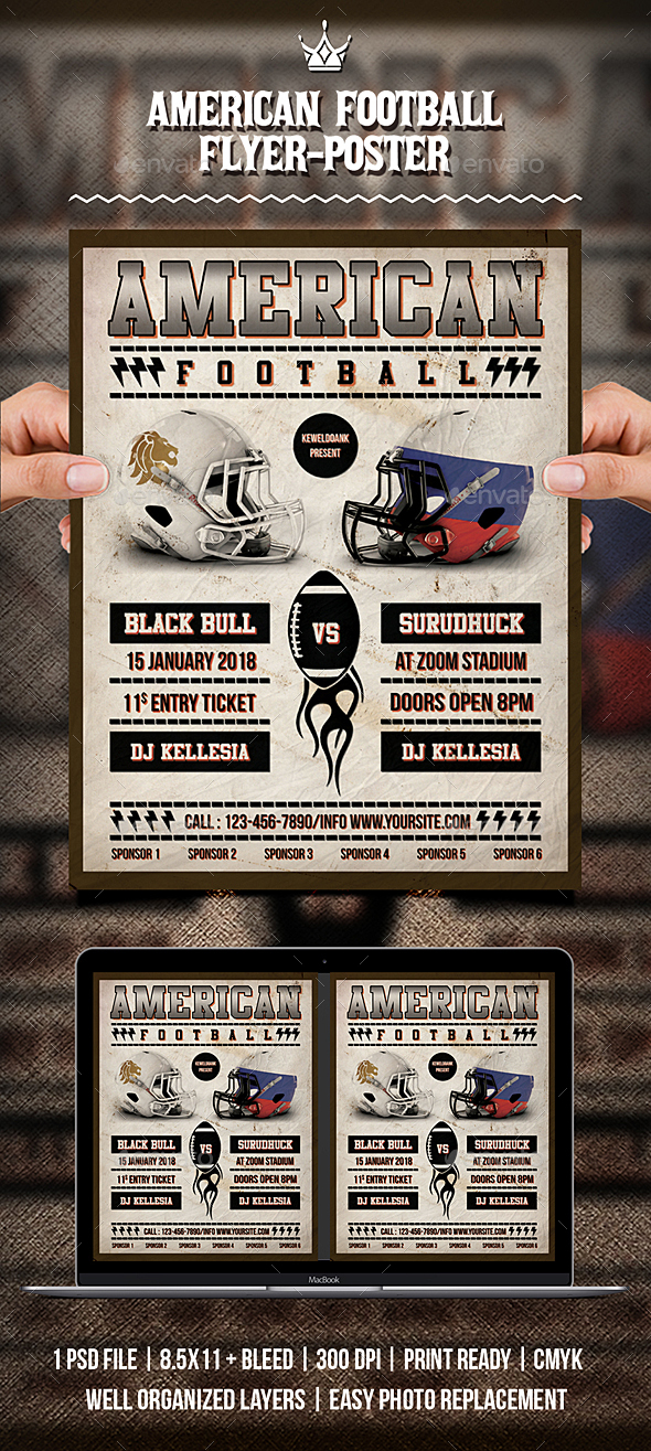 American Football Flyer / Poster - Sports Events