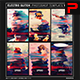 Electro Glitch Photoshop Template Ver.1 - GraphicRiver Item for Sale