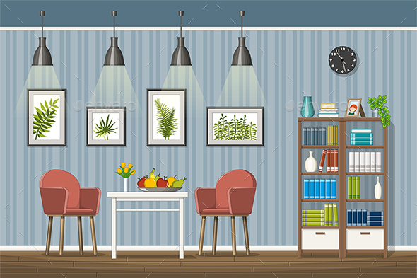 Illustration of a Classic Living Room - Miscellaneous Vectors