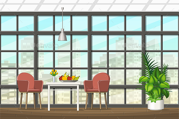 Illustration of a Modern Living Room - Miscellaneous Vectors