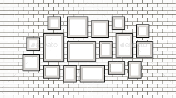 Various Pictures with Black Frame - Miscellaneous Vectors