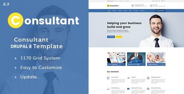Image of Consultant - Multipurpose Corporate Drupal 8 Template
