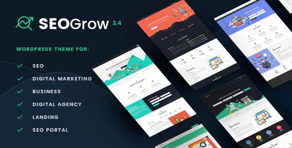 Marketing & SEO WordPress Theme | SEO Grow Marketing - Marketing Corporate