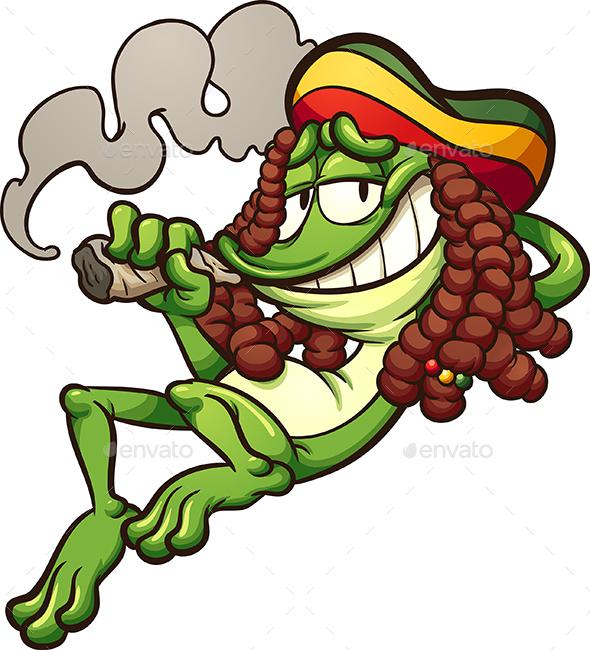 Rasta Frog - Animals Characters