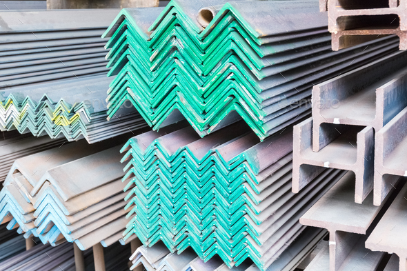 steel construction materials closeup - Stock Photo - Images