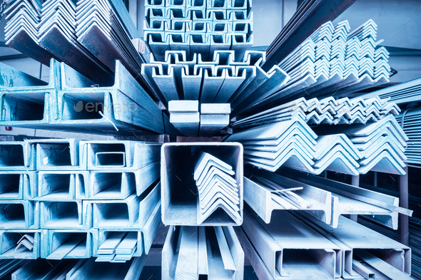 steel construction materials closeup - Stock Photo - Images