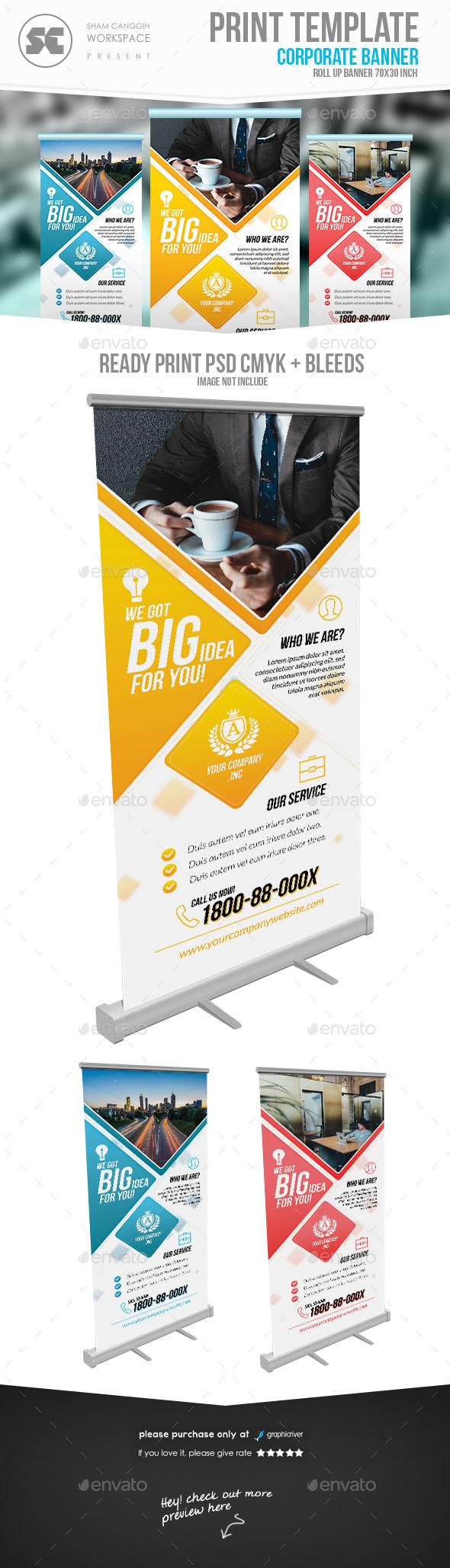 Multipurpose Corporate Banner - Signage Print Templates