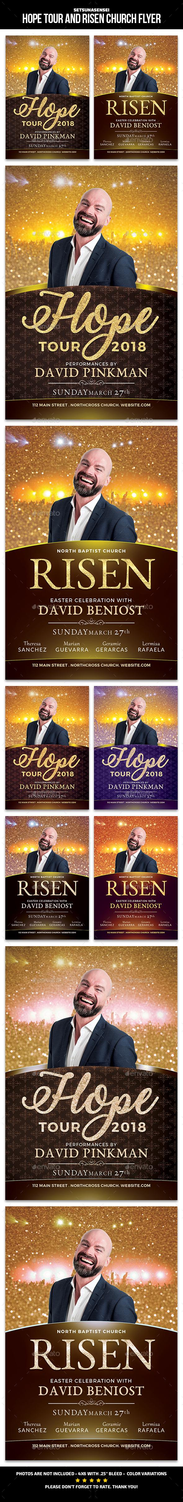 Hope Tour Church Flyer - Church Flyers