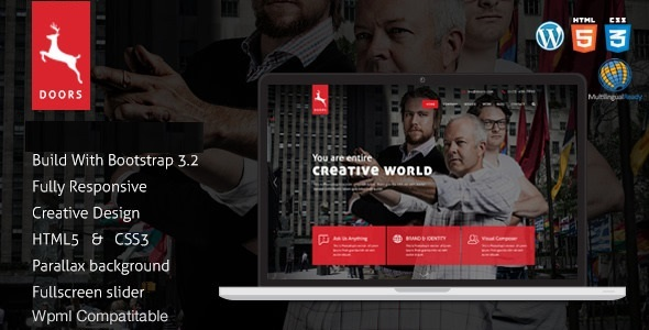 ThemeForest Doors Onepage Corporate Business Multipurpose Joomla Template 21115141