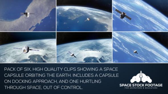 VideoHive Space Capsule in Orbit Pack 21207724