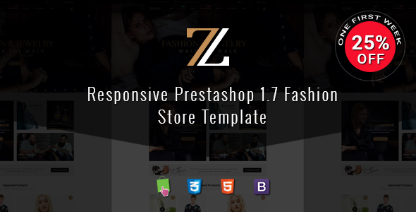 ThemeForest Zoro Responsive PrestaShop 1.7 Shopping Theme 21115334