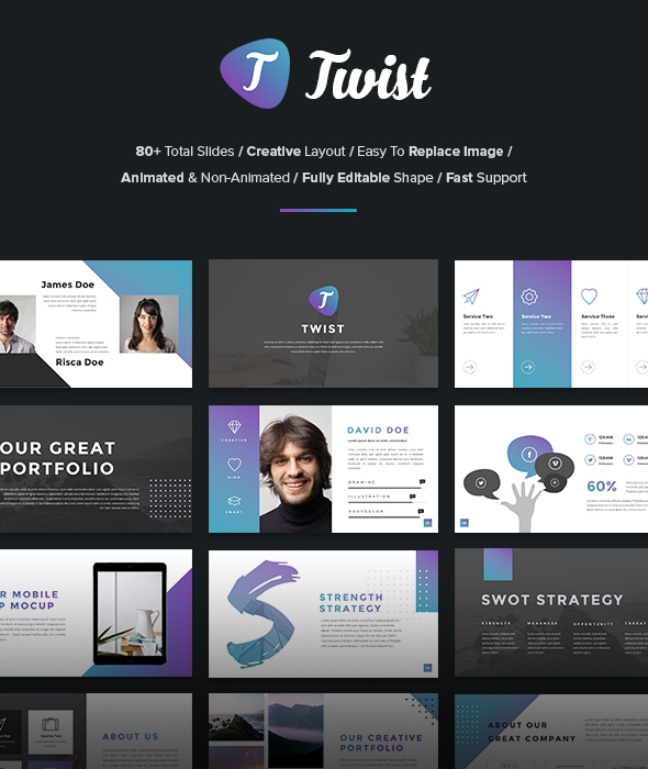 Twist - Business PowerPoint Template - Business PowerPoint Templates