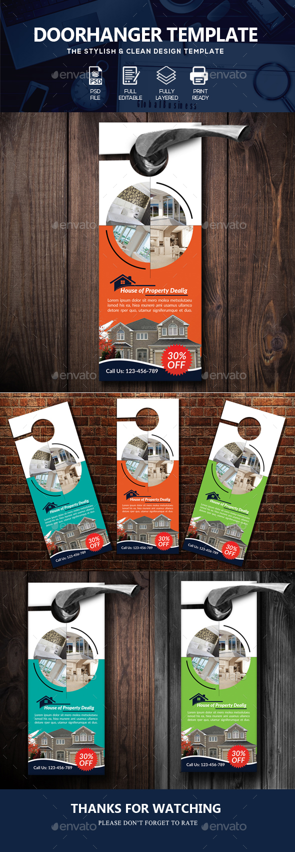 Real Estate Door HangerTemplate - Miscellaneous Events