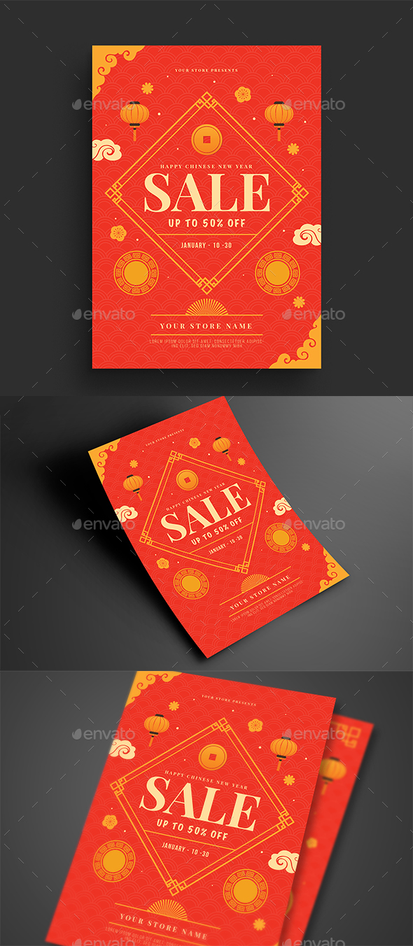 Chinese New Year Sale Flyer - Events Flyers