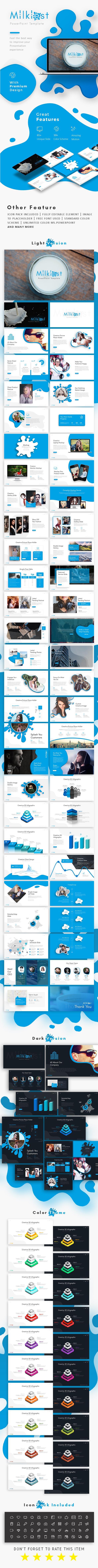 Milkiest Creative Presentation Template - Creative PowerPoint Templates