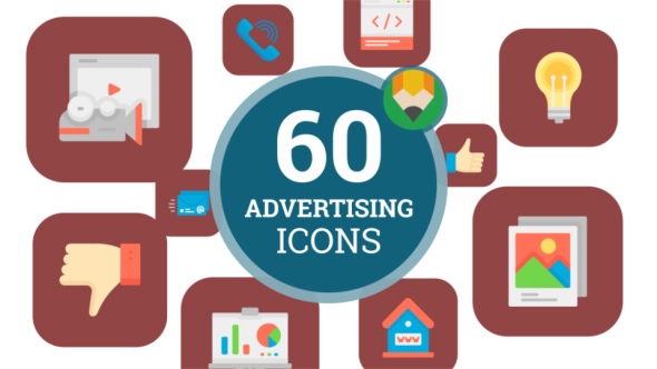 VideoHive Icons Pack Advertising Store Banner Web Ad Flat Animated Icons 21207921