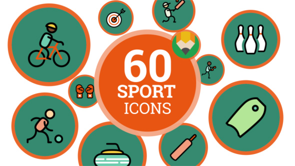 VideoHive Icons Pack Sport People Fitness Lifestyle Flat Animated Icons 21207929